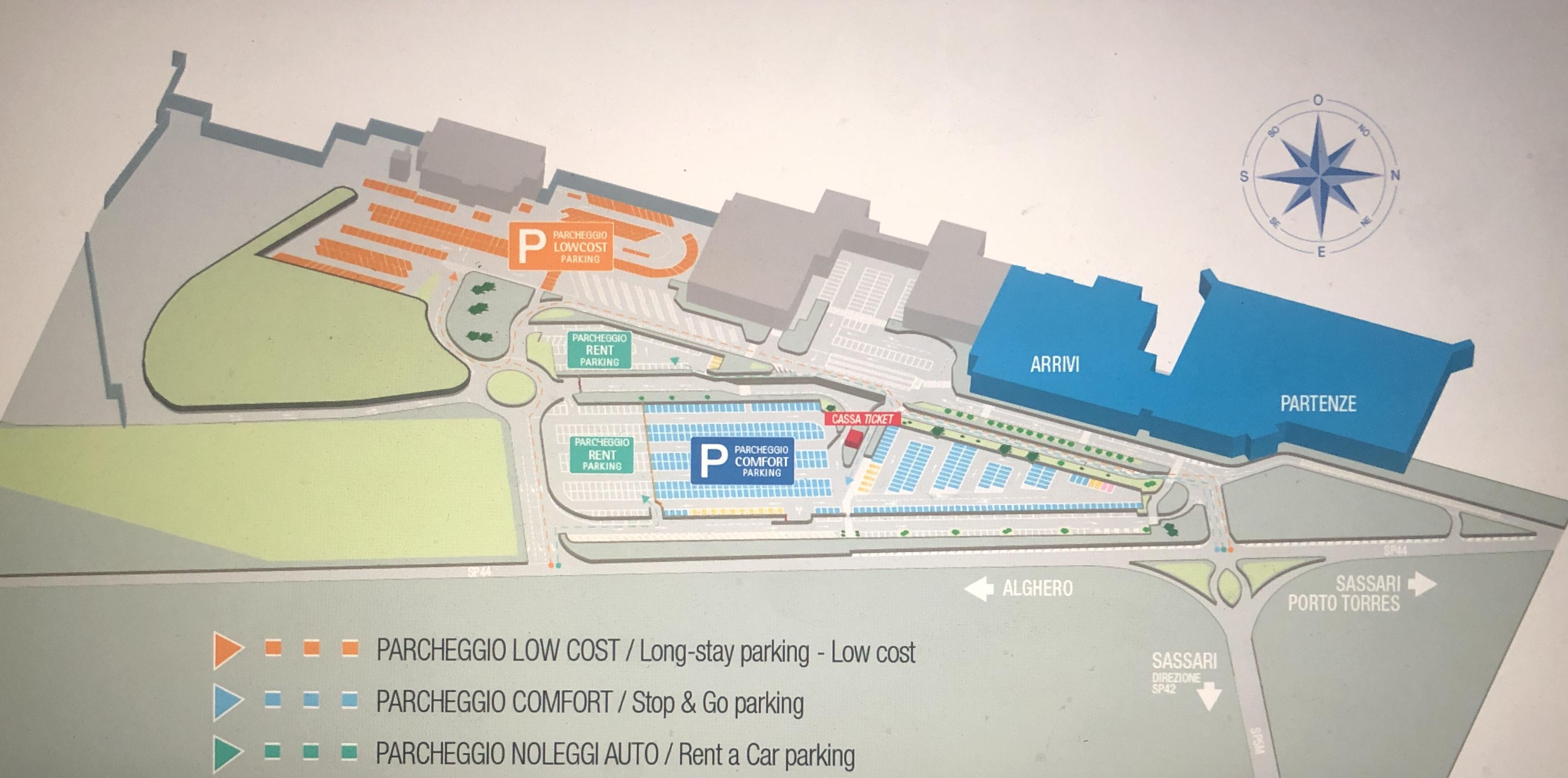 parcheggi aeroporto Alghero