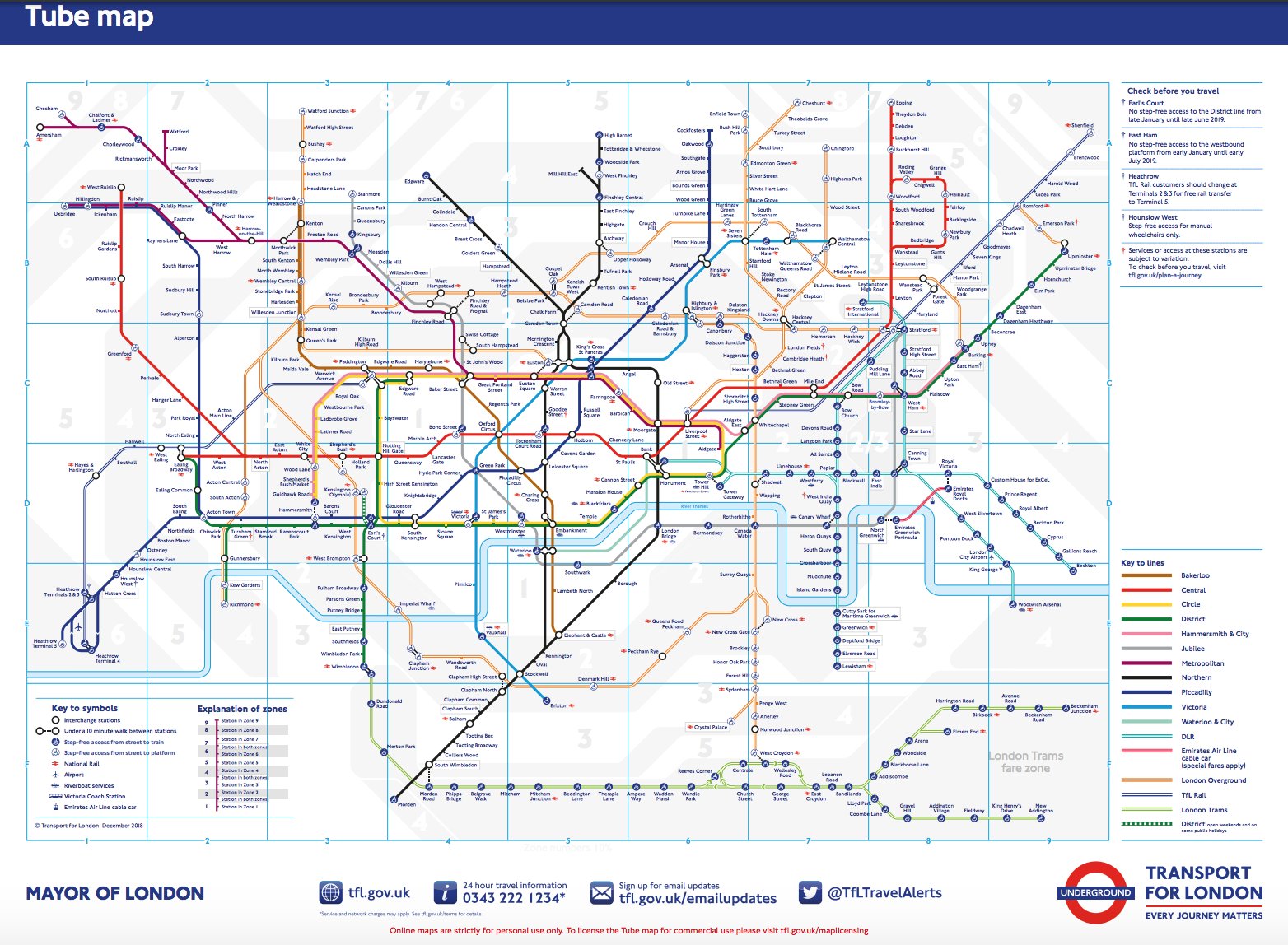 mappa metropolitane londra
